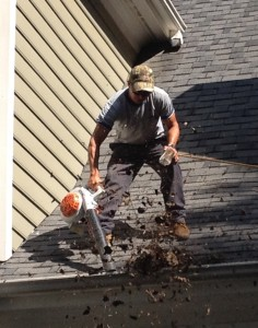 Triangle area gutter cleaning